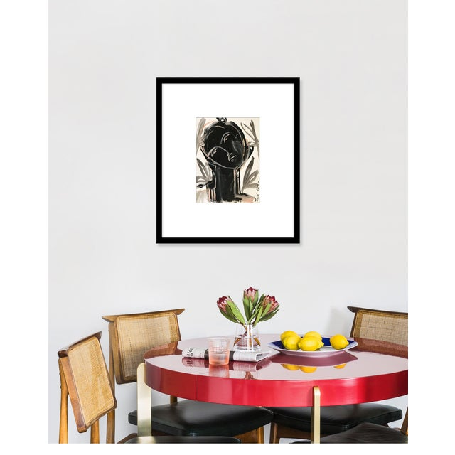 Giclée on textured fine art paper with black frame. Unframed print dimensions: 9.75x12.75. Leslie Weaver is a mixed media...