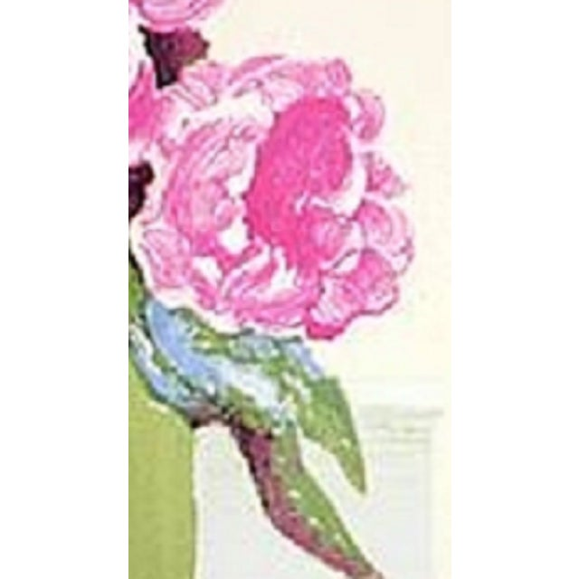 A lovely lithograph by French artist Roger Muh. Roger Muhl (French, 1929-2008) Pivoines Lithograph 23.5 x 19.5 inches...