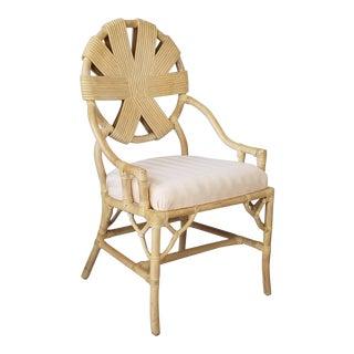 Vintage Rattan Accent / Desk Chair . For Sale