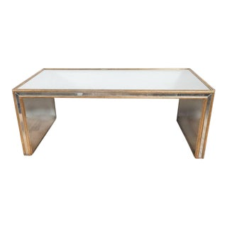 Mid-Century Modern Cocktail Table in Verre Églomisé and Giltwood, circa 1950 For Sale