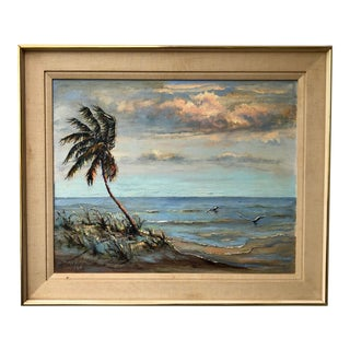 Florida Seascape Signed Original Painting by Mary Coulter