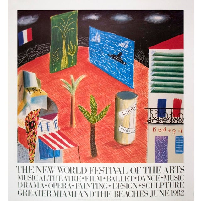 Pop Art David Hockney, Detail From the Zanzibar With Postcards and Kiosks Set, Lithograph, 1982 For Sale - Image 3 of 3