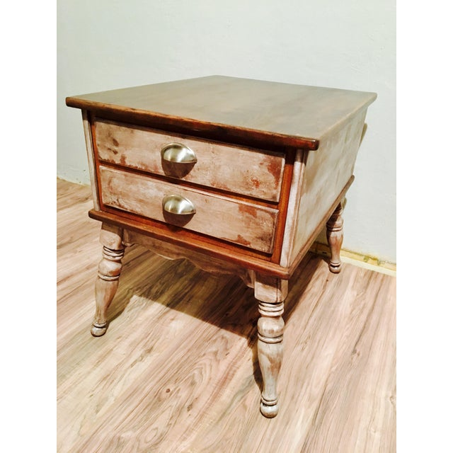 Farmhouse Rustic Side Table - Image 9 of 11