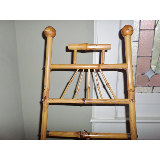 Late 19th Century Antique Victorian Bamboo Floor Easel Display Stand For Sale - Image 5 of 7