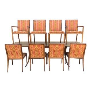1950s Vintage T. H. Robsjohn Gibbings for Widdicomb Saber Leg Dining Chairs- Set of 8 For Sale