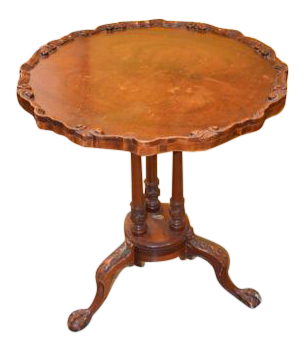 Antique Ball U0026 Claw Foot Carved Table