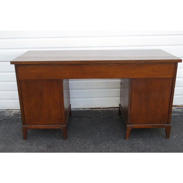 Mid-Century Modern Mid Century Modern Large Writing Office Desk For Sale - Image 3 of 13