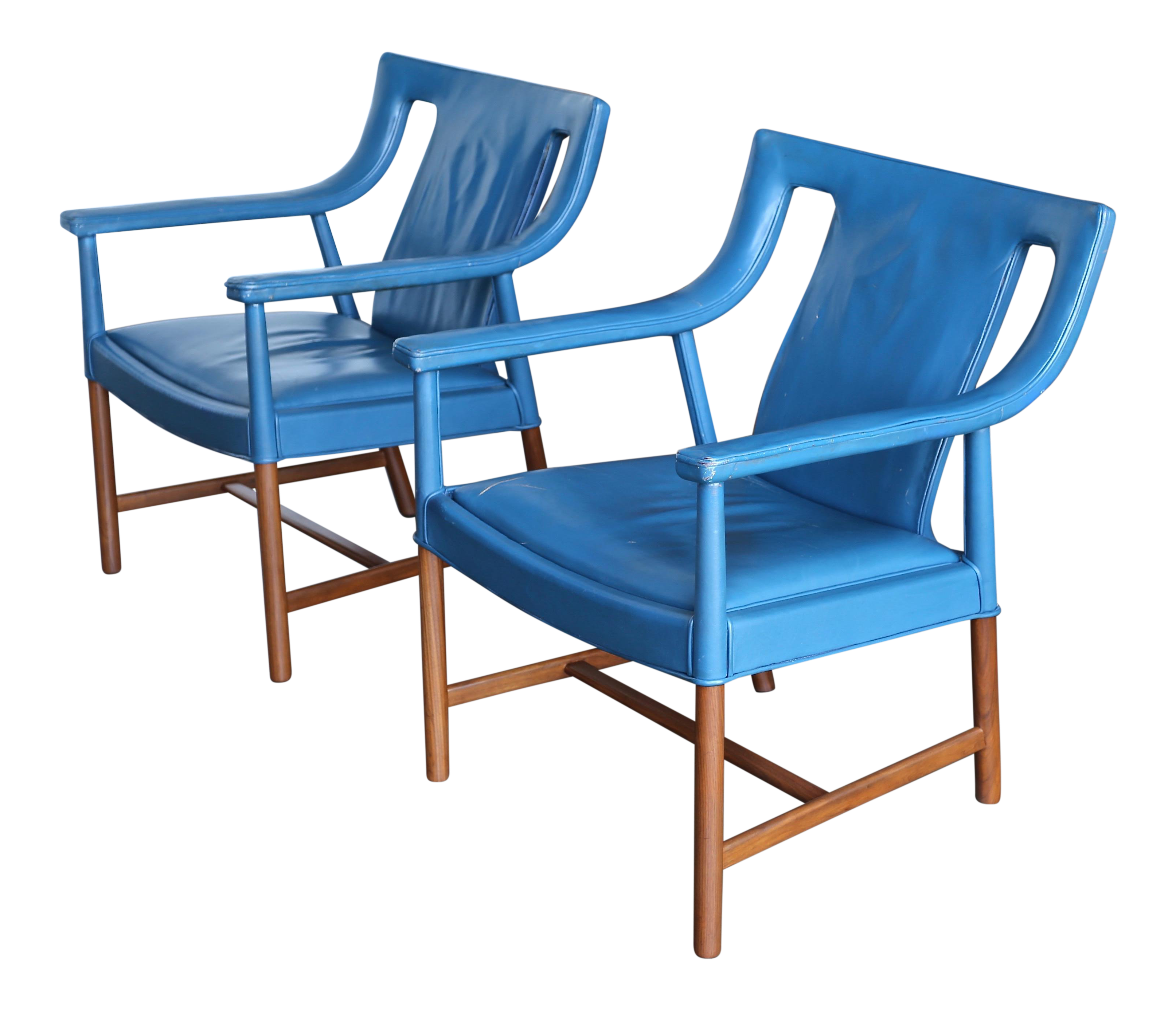 Ejner Larsen And Aksel Bender Madsen Armchairs   A Pair For Sale