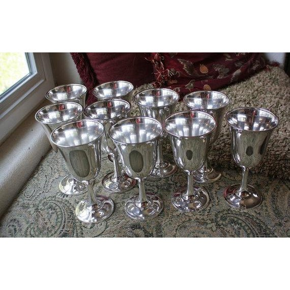 Wallace Silversmith Water Goblets - Set of 10 - Image 3 of 6