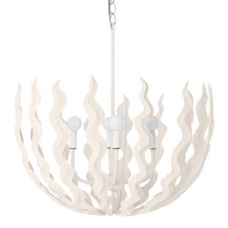 Stray Dog Designs for Chairish Chucho Chandelier, White For Sale