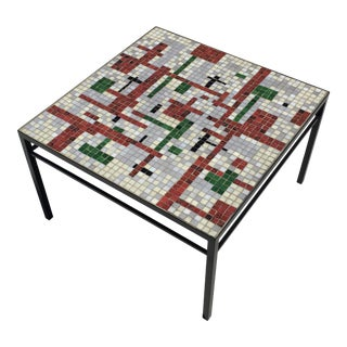 1960s Mid Century Modern Mosaic Tile Top Table
