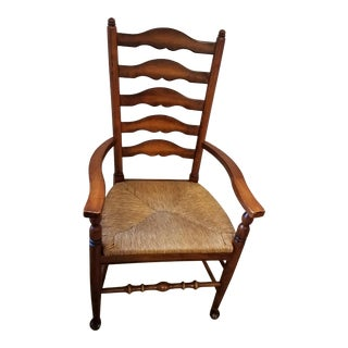Vintage Tall Ladder Back Chair For Sale