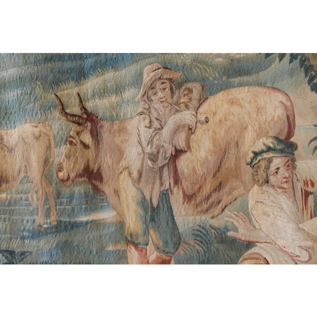 17th Century Brussels Tapestry Signed P. Van Den Hecke For Sale - Image 4 of 8