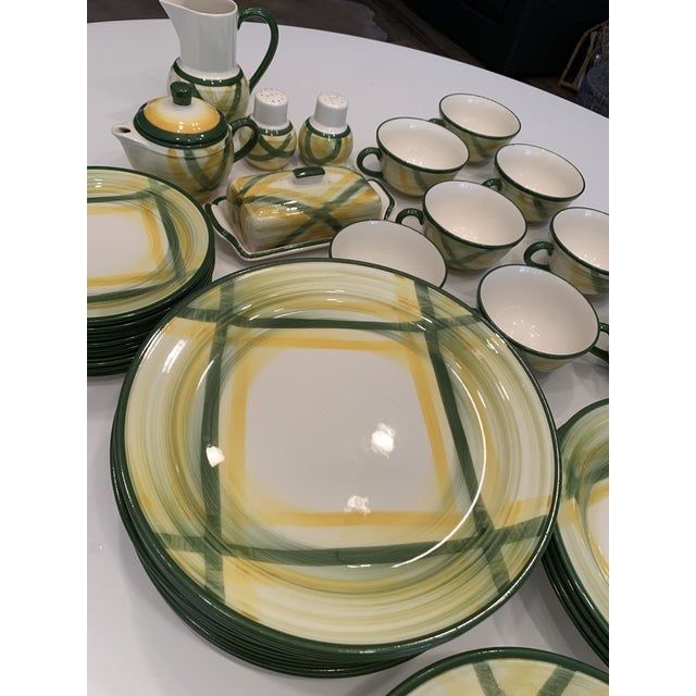 Mid-Century Modern Vintage Mid-Century Vernonware Gingham Dinnerware - 40 Piece Set For Sale - Image 3 of 13
