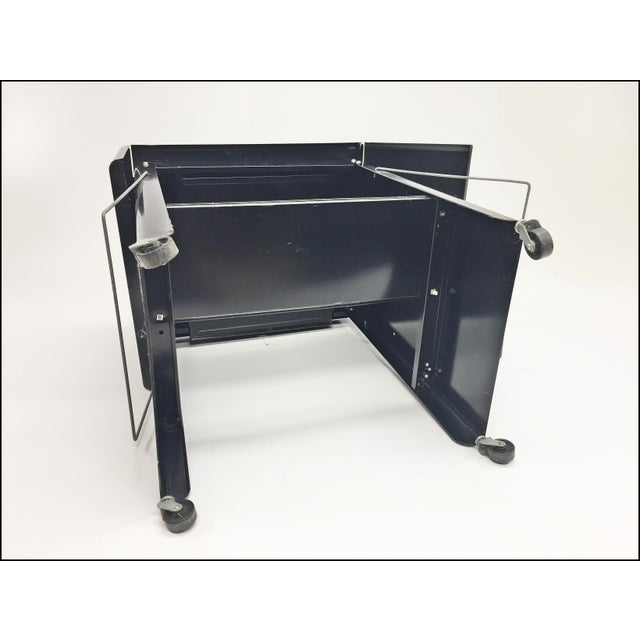 Vintage Industrial Black Typewriter Table With Double Drop Leaf by Cole Steel For Sale - Image 12 of 13