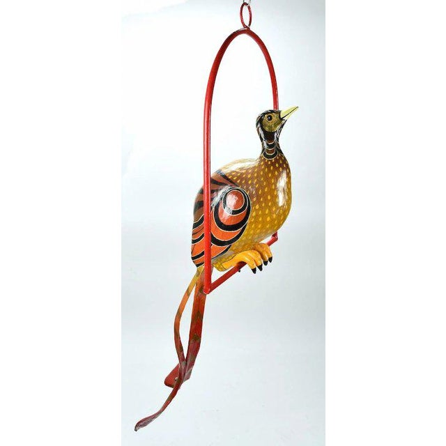 Aesthetic Movement Vintage Sergio Bustamante Limited Edition Paper Mache Tropical Bird Sculpture For Sale - Image 3 of 8