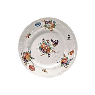 Floral Antique Bone China Plate For Sale