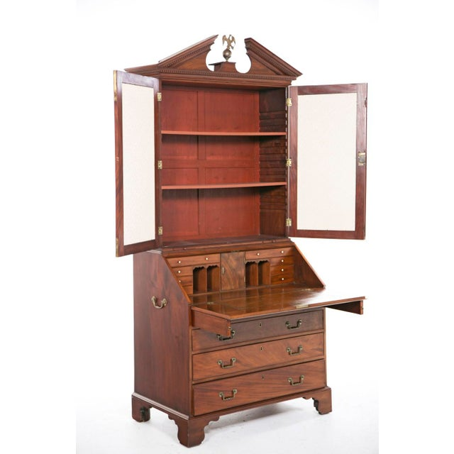Mid 18th Century Georgian Secretaire Bookcase For Sale In San Francisco - Image 6 of 8