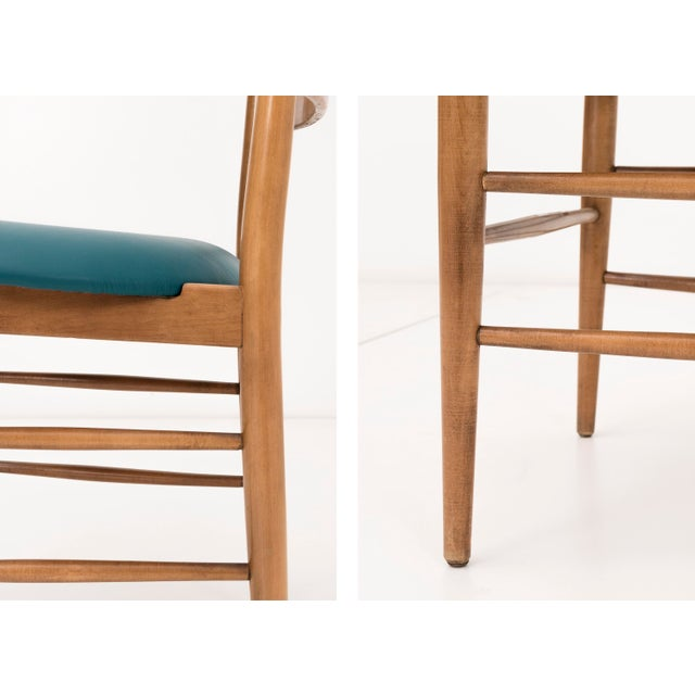 Wood Set of Ten Milo Baughman Dining Chairs For Sale - Image 7 of 8