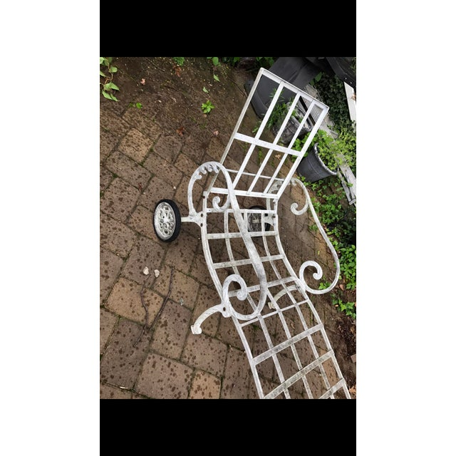 Cottage Salterini Style Chaise Lounge Patio Sun Chair For Sale - Image 3 of 8
