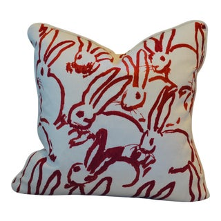Lee Jofa Groundworks Red Bunny Hutch Print Pillow For Sale