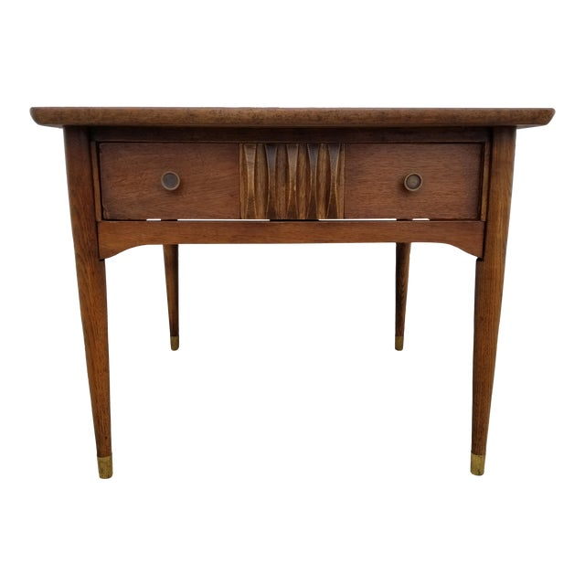 1960s Mid-Century Modern Wooden Side Table For Sale