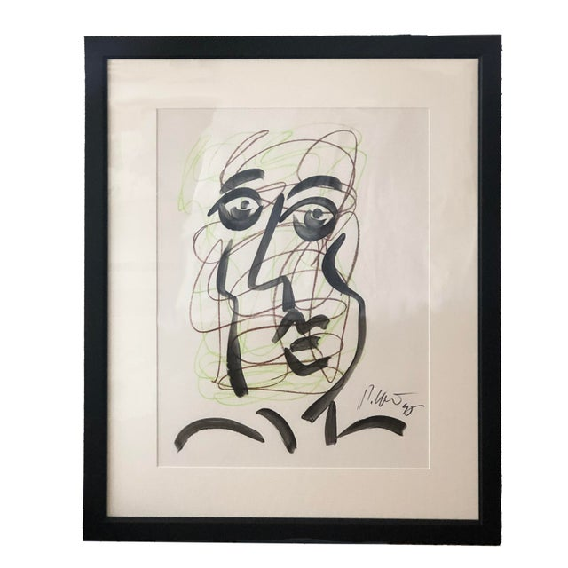Peter Keil Original Peter Keil Framed Figural Abstract Painting For Sale - Image 4 of 6