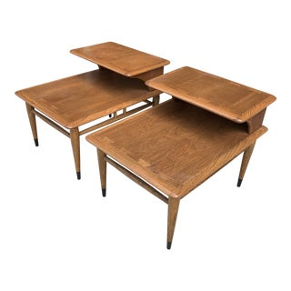 1960s Lane Mid-Century Acclaim Dovetailed End Tables - a Pair For Sale