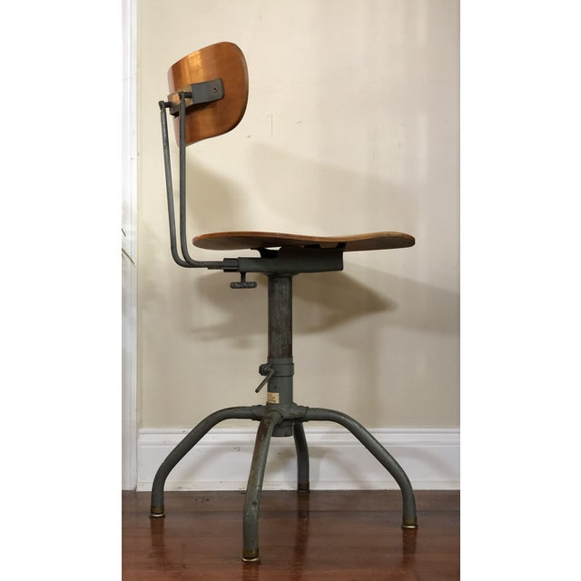 """This is a beautiful Industrial Singer Sewing Machine Chair that adjusts in height. The height ranges from 28.5""""-35"""". The..."""