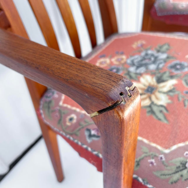 Vintage Modern Teak Arm Chairs- a Pair For Sale - Image 10 of 13