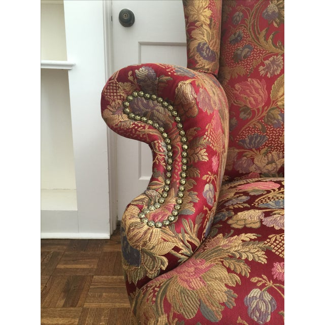 Antique Wingback Chair - Image 4 of 7