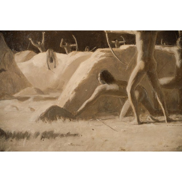 1911 Charles Jacob Hittell Native American Legends #4 Original Oil Painting For Sale - Image 4 of 9