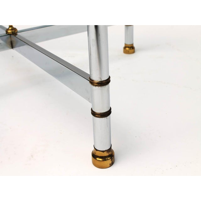 Petite Brass & Steel Side Table - Image 4 of 8