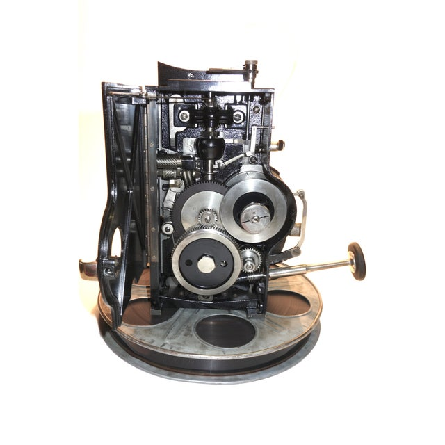 American Kaplan 35mm Cinema Movie Projector Head, Circa 1930 Fully Restored and Gorgeous. For Sale - Image 3 of 12