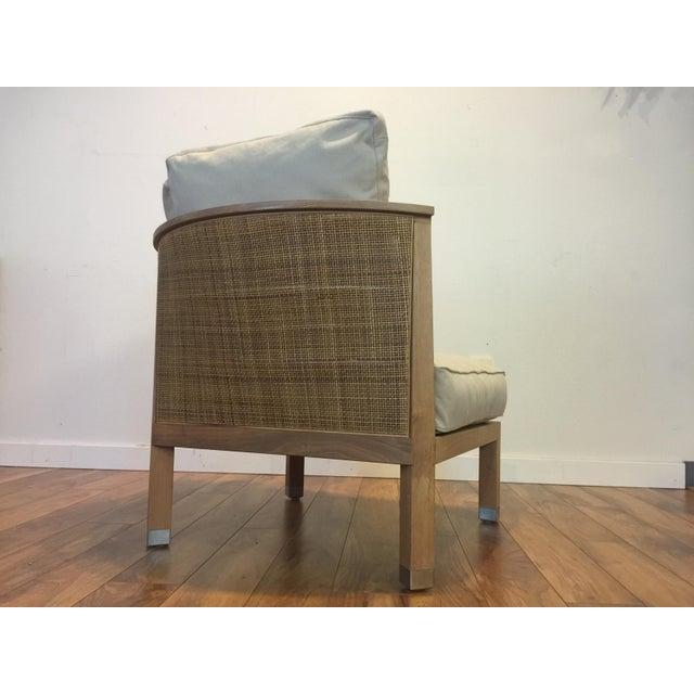 Flexform Italian Wood & Wicker Rosetta Chair For Sale - Image 7 of 11