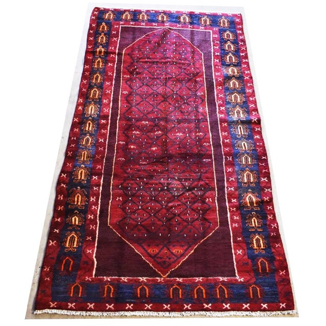 "Hand-Tied Red Persian Kolia Rug 4'11 X 8'10"" For Sale - Image 13 of 13"
