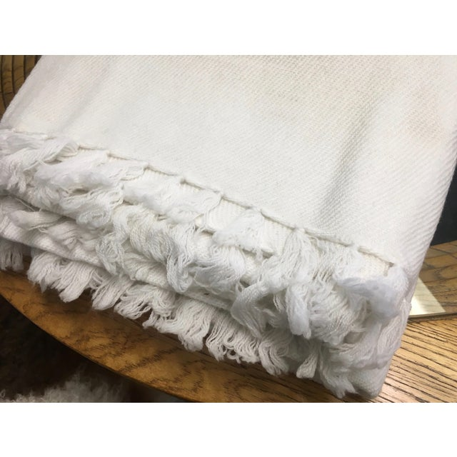 White Cashmere Blanket With Tassels - Image 9 of 11