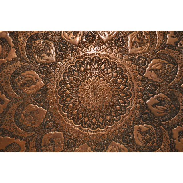Persian / Indian Copper Table Top - Image 3 of 8