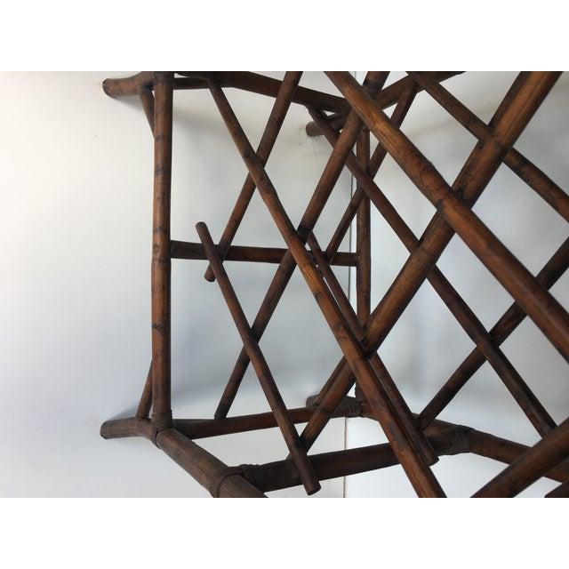 Bamboo Wine Rack & Tray Table For Sale - Image 4 of 6