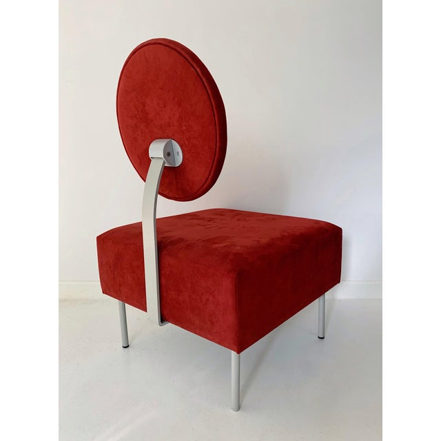 1980s 1980's Vintage Andreu World Contemporary Red Square Lounge Chair For Sale - Image 5 of 8