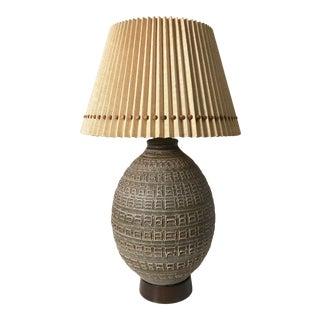 1960s Mid-Century Modern Studio Pottery Table Lamp