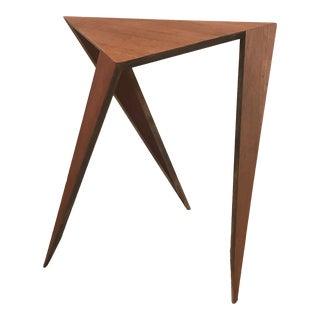 Califorina Designer William Earle Geometric Side Table For Sale