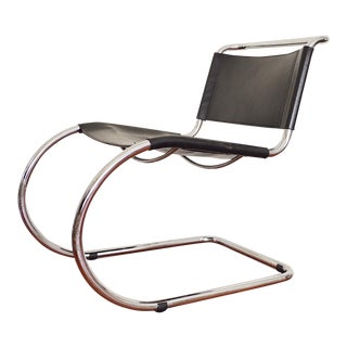 Mies Van Der Rohe Style Cantilever Lounge Chair