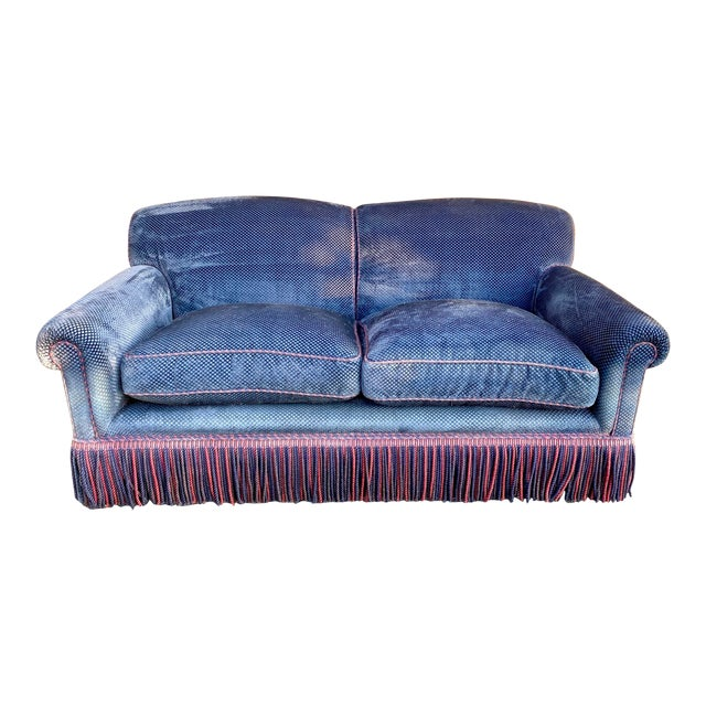 George Smith Full Scroll Arm Sofa For Sale