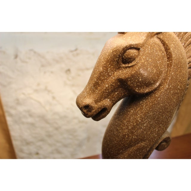 Equestrian Ceramic Lamp and Shade For Sale In Boston - Image 6 of 8