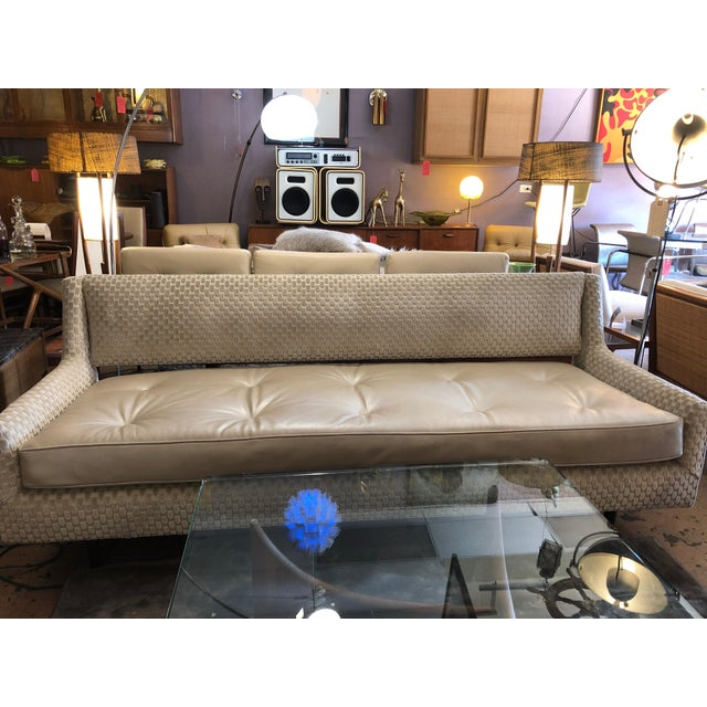 Mid Century Modern Edward Wormley by Dunbar Open Back Sofas Newly Upholstered - Set of 2 For Sale - Image 4 of 9