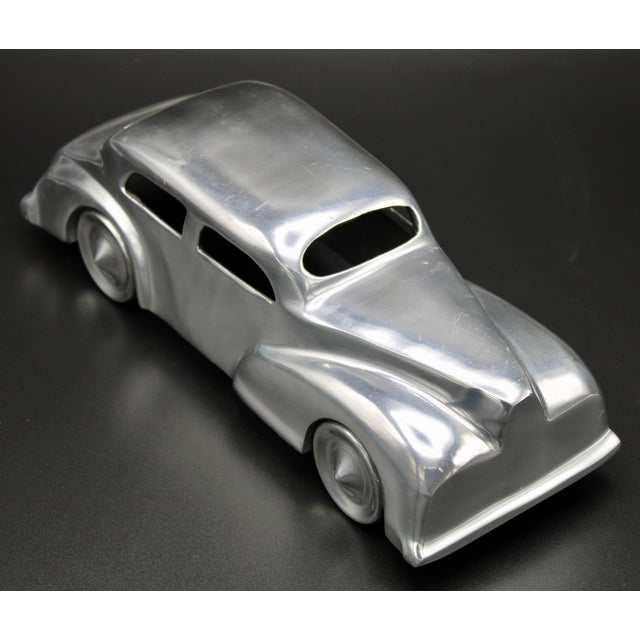Metal Chrome Stylized Classic Car For Sale - Image 7 of 13