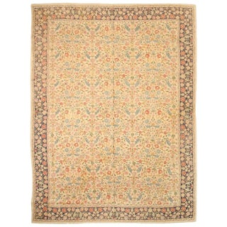 Antique Indian Nundah Hand Stitch Carpet For Sale