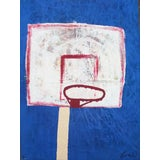 "Image of Bumpy Wilson ""The Hoop"" Contemporary Abstract Painting For Sale"