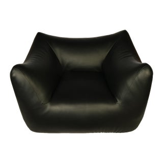 1980s Vintage Overstuffed Lounge Chair For Sale